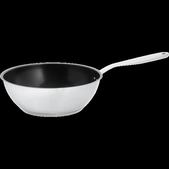 All Steel wok serpenyő, rozsdamentes acél