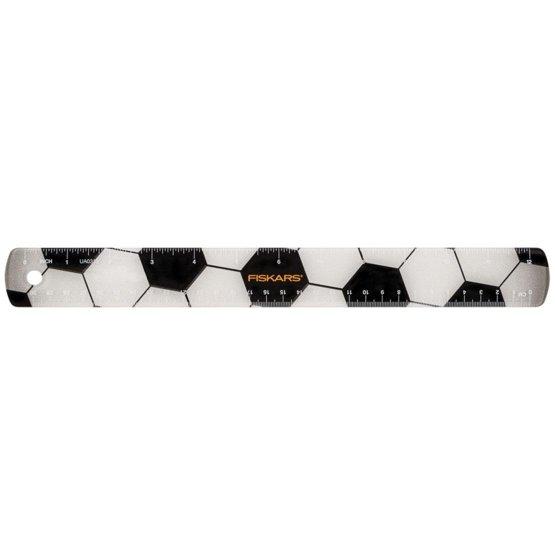 Gyerekvonalzó focilabda motívummal, 30 cm
